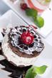 Cake closeup.Light Dessert