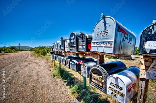 Leinwandbild Motiv Rural Mailboxes