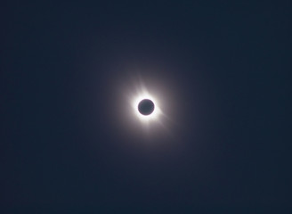 Solar Eclipse, total phase. As it seen with binoculars.