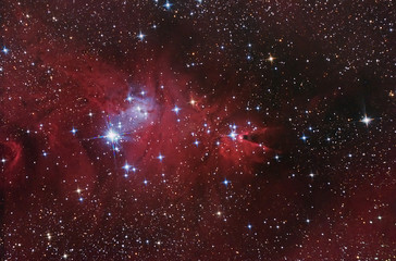 Nebular complex in Monoceros constellation.