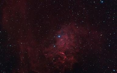 """Flaming Star"" Nebula in Milky Way, IC 405"