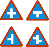 junction traffic sign poster
