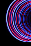 neon tube abstract shape background