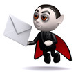 3d Even dracula gets mail