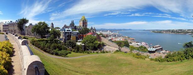 Vue panoramique sur la ville de Quebec, Canada.
