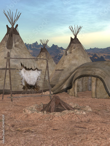 Fotobehang Indiërs Indianer Zeltdorf