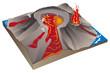 Leinwandbild Motiv Volcanisme - Eruption hawaïenne