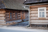Traditional polish wooden hut from Zakopane region.