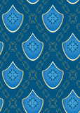 seamless vector blue rhombus texture poster