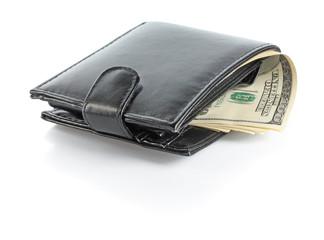 Dollars in male purse