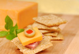 Cheese and salami appetizer