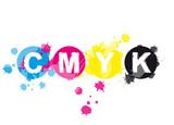 Fototapety Abstrakt CMYK Farbkleckse