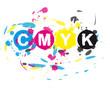 Abstrakt CMYK Farbkleckse 02