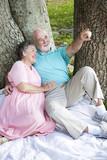 Relaxed Seniors Birdwatching poster