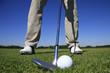 GOLF - Golfspieler mit Pitching Wedge