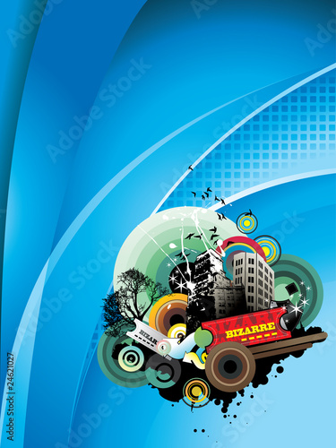 city abstract vector illustration