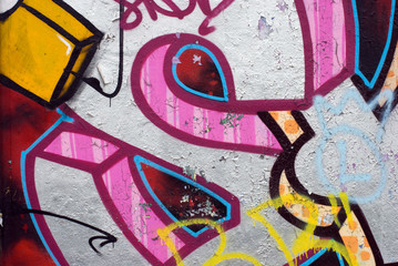 Graffiti with pink element