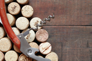 Corkscrew On Corks