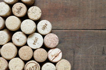 Wine Corks On Wood