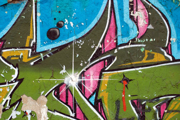 Graffiti with star