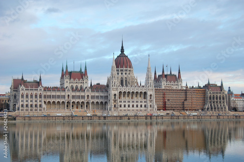 Parliament Building and River Danube - Budapest, Hungary