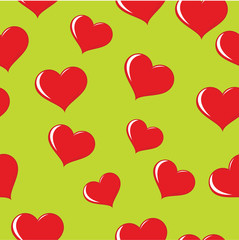 seamless wrapping paper with hearts.