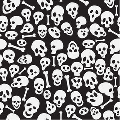 seamless wrapping paper with skuls.