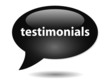TESTIMONIALS Speech Bubble Icon (web button PR kudos business)