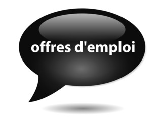 Bouton Bulle OFFRES D'EMPLOI (Chômage Jobs Recrutement Candidat)