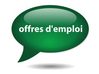 Bouton Bulle OFFRES D'EMPLOI (Jobs Chômage Recrutement Embauche)