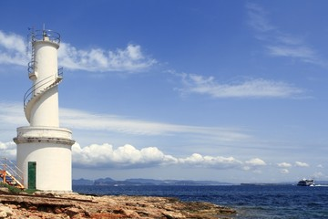 La Savina port lighthouse Formentera