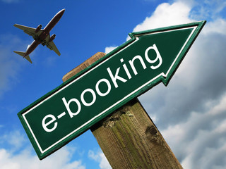 e-booking sign