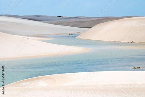 Papiers peints Desert de sable Parc National Lençóis Maranhenses, Brésil