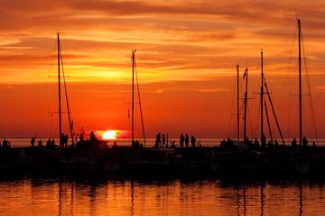 Sonnenuntergang an der Ostsee, Timmendorf, Insel Poel
