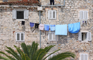 Drying clothes in Split