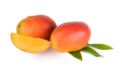 Mangoes isolated on white background