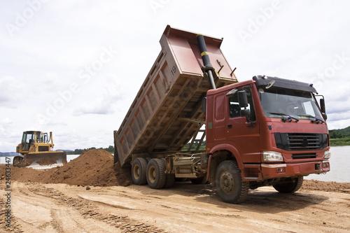 Foto Spatwand Kanaal Image of Construction