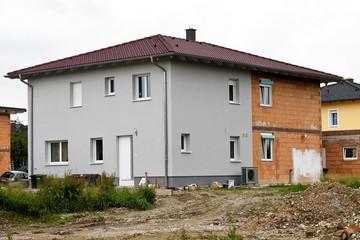 Wärmeisloierung bei einem neuen Wohnhaus