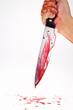 pMesser mit Blut. Kriminalität. Tatwaffe eines Mordes.