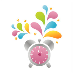 colorful clock background