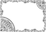 pattern with black openwork frame poster