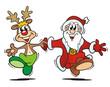 Santa and Reindeer Dancing