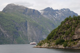 View along Geirangerfjord