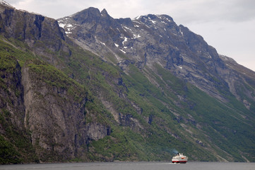 View along Geirangerfjord