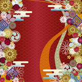 Abstract japanese floral background