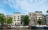 authentic amsterdam houses poster