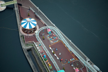 Spielplatz in Yokohama - Reale Tiltshift Aufnahme, kein Modell