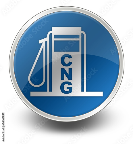 "Glossy Icon ""Fuel Dispenser - Compressed Natural Gas"""