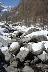 River Rocks and Snow (Gran Paradiso National Park, Italy)