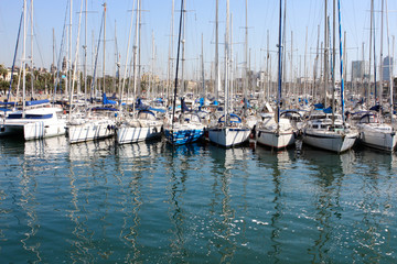 Harbor in Barcelona, Spain